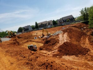 Prime West Knoxville construction site with houses in the distance