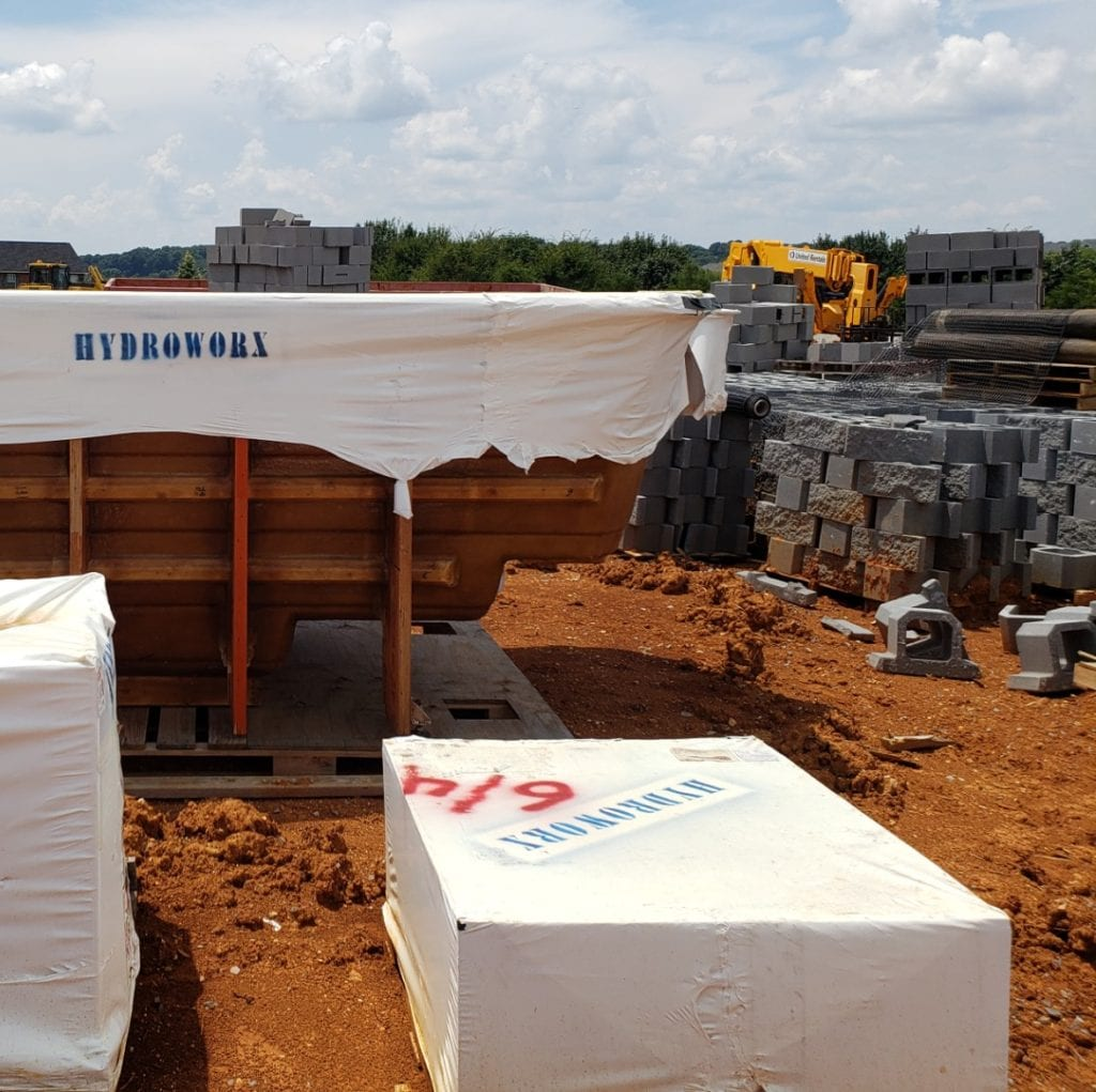 construction site at prime west knoxville, with hydroworks aquatic treadmill delivered