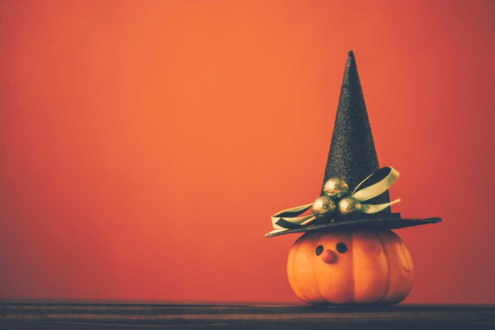 cute pumpkin in witch hat for seniors in west knoxville