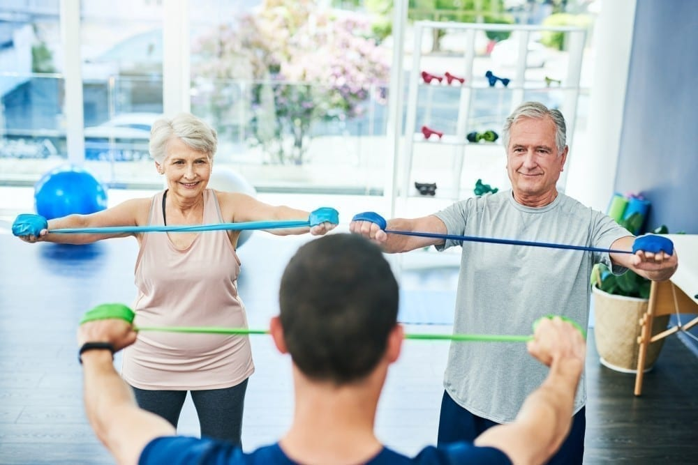 seniors receiving physical therapy instruction in west knoxville